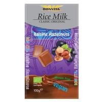 Schokoladenkuvertüre mit Rosinen & Haselnüssen - glutenfrei