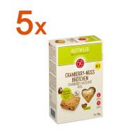 Sparpaket 5 x Cranberry-Nuss Brötchen - glutenfrei
