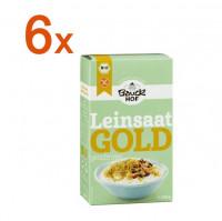 Sparpaket 6 x Leinsaat Gold geschrotet - glutenfrei