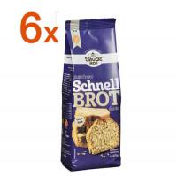 Sparpaket 6 x Schnelles Dunkles Brot - glutenfrei