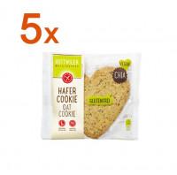 Sparpaket 5 x Hafer Cookie mit Chia - glutenfrei