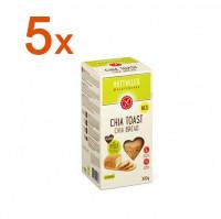 Sparpaket 5 x Chia Toast - glutenfrei
