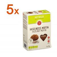 Sparpaket 5 x Haselnuss Muffin - glutenfrei