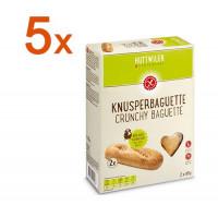 Sparpaket 5 x Knusperbaguette - glutenfrei