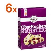 Sparpaket 6 x Obstkuchen Rührteig Backmischung - glutenfrei