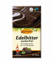Edelbitter-Schokolade zuckerfrei - glutenfrei