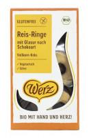 Reis-Ringe mit Glasur nach Schokoart - glutenfrei