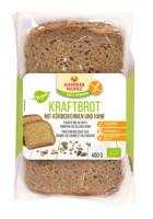 Bio Kraftbrot mit Kürbiskernen und Hanf - glutenfrei