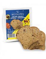 Dunkles Brot mit Kürbiskernen und Cranberries - glutenfrei