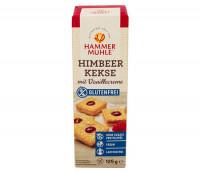 Himbeer Kekse mit Vanillecreme - glutenfrei