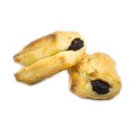 Napolitana Blätterteigröllchen mit Schokofüllung - glutenfrei