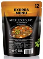 Rindfleischsuppe mit Gemüse Fertiggericht - glutenfrei