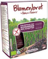 Blumenbrot schwarzer Reis - glutenfrei