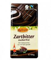 Zartbitter-Schokolade zuckerfrei - glutenfrei