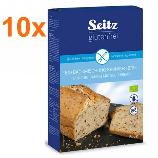 Sparpaket 10 x BIO-Backmischung für kerniges Brot