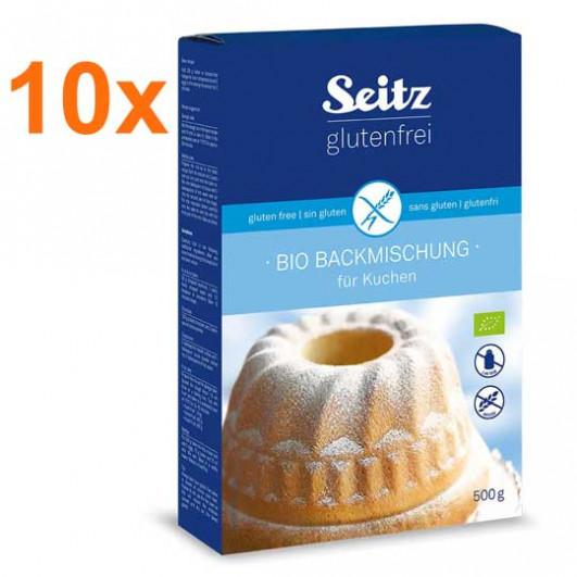 Sparpaket 10 x BIO-Backmischung für Kuchen