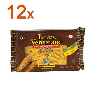 Sparpaket 12 x Le Veneziane Tubetti Rigati Makkaroni