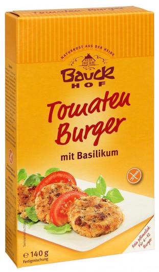 Tomaten Burger mit Basilikum