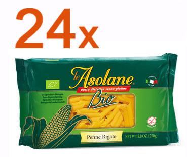 Sparpaket 24 x Le Asolane Penne Rigate Bio