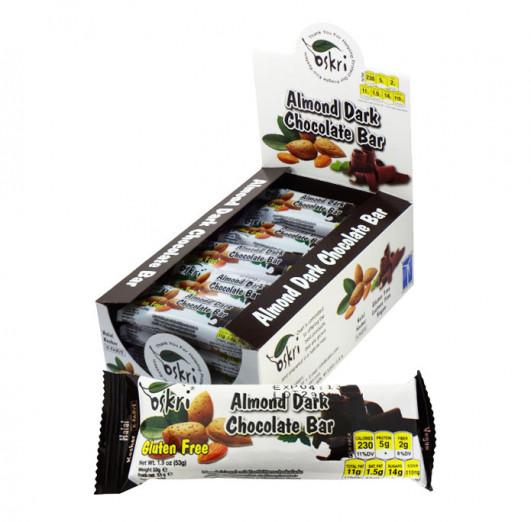 Mandelriegel mit Zartbitterschokolade