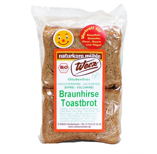 Braunhirse Toastbrot