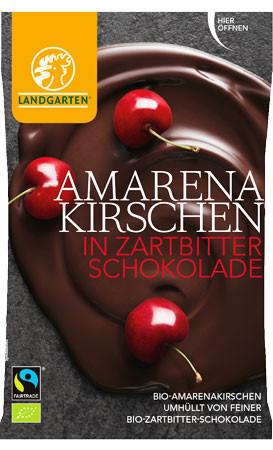 Bio Amarenakirschen in Zartbitterschokolade