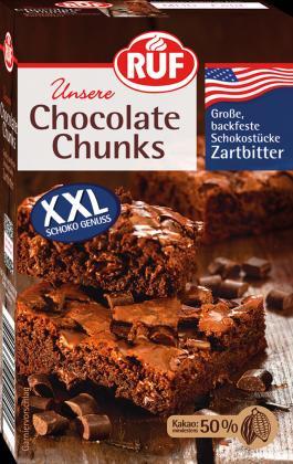 Chocolate Chunks Zartbitter, backfeste Schokostücke