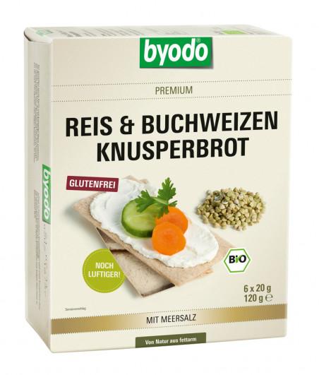 Reis & Buchweizen Knusperbrot mit Meersalz