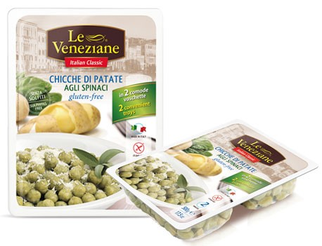 Le Veneziane Potato Kartoffel Gnocchi mit Spinat