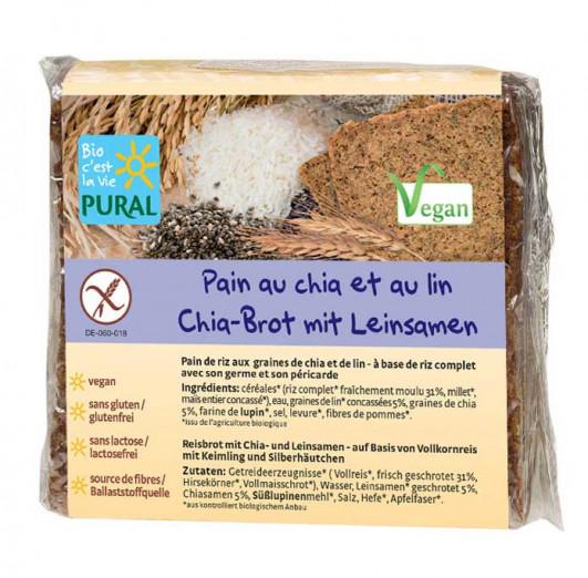 Chia-Brot mit Leinsamen