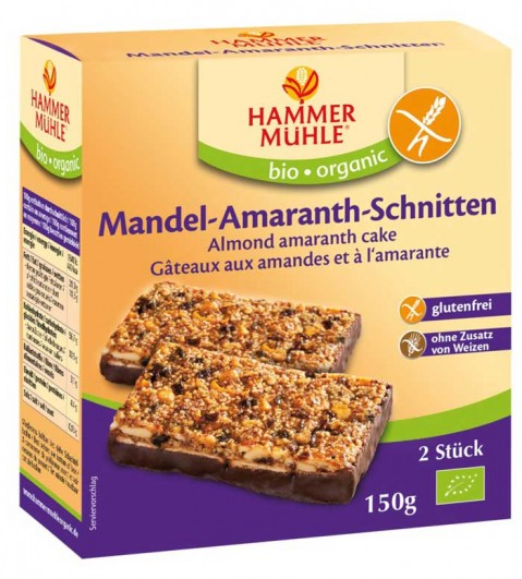 Bio Mandel-Amaranth-Schnitten