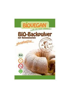 BIO Backpulver mit Reinweinstein