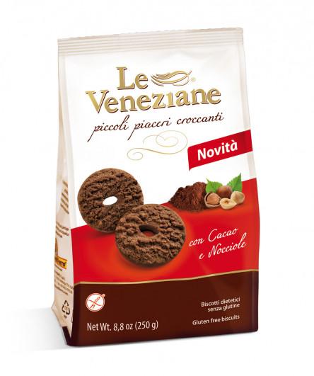 Le Veneziane Biscotti mit Kakao und Haselnüssen