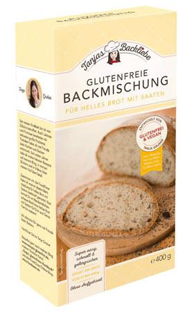 Glutenfreie Backmischung für helles Brot mit Saaten