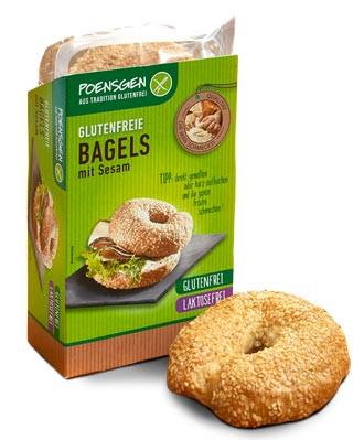 Glutenfreie Bagels mit Sesam