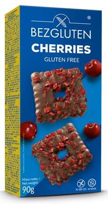 Cherries Kekse in belgischer Schokolade