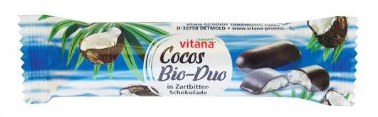 Cocos-Riegel in Zartbitter-Schokolade