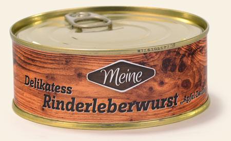 Delikatess-Rinderleberwurst Apfel-Zwiebel
