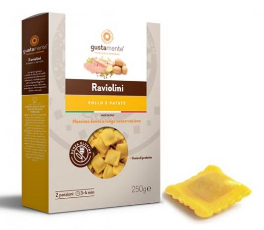 MHD*** 31.7.19 Glutenfreie Raviolini Pollo Kartoffeln & Huhn