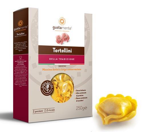 Glutenfreie Tortellini mit Mortadella, Schinken & Parmesan