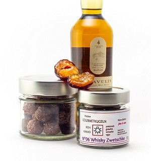 N°05 Whisky Zwetschke Gourmetkugeln aus Rohkakao