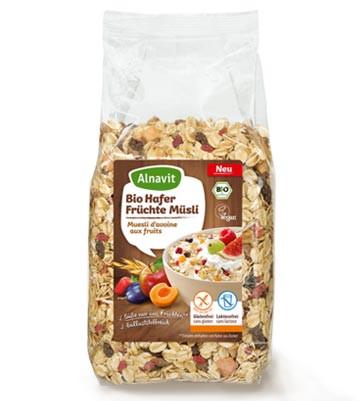 Bio Hafer Früchte Müsli