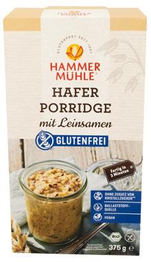 Bio Hafer Porridge mit Leinsamen
