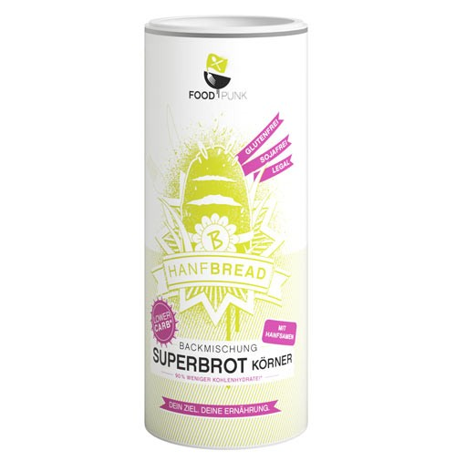 Hanfbread Backmischung Superbrot Körner
