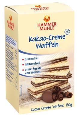 Kakao-Creme Waffeln