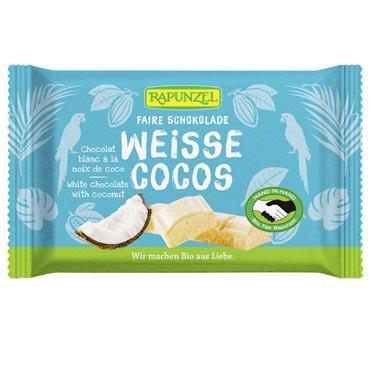 Weisse Cristallino Schokolade mit Kokosstückchen