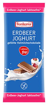 Erdbeer-Joghurt gefüllte Vollmilchschokolade laktosefrei