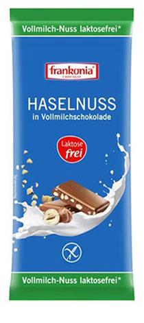 Haselnuss in Vollmilchschokolade laktosefrei