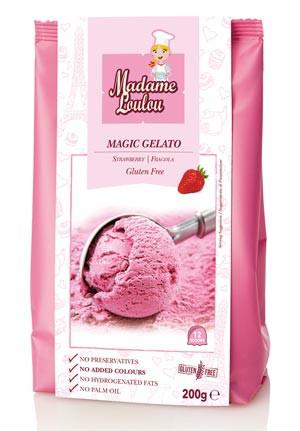 Eispulver Magic Gelato Erdbeere