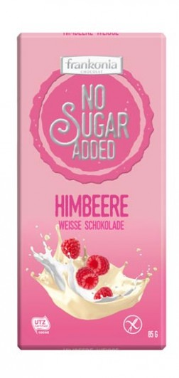 No Sugar Added Himbeere Weisse Schokolade
